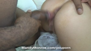 Blonde Wife Gets Interracial Anal and Creampie