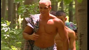 Hot jocks in the woods