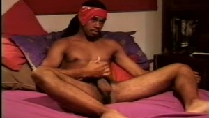 Hot ebony hunk busts a nut