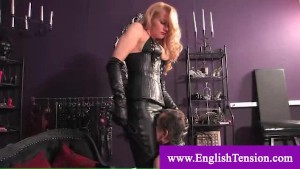 Domina asks servant to masturbate