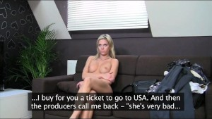FakeAgent Blondie wants to be porn star