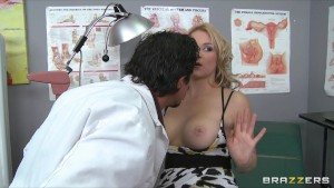 Hot big-tit blonde slut MILF patient fucks doctor s dick in clinic