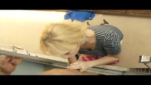 Slutty blond MILF Alana Evans fucks her son s friend in shower