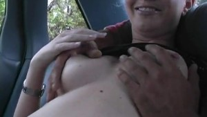 Naughty Teen s Back Seat Blowjob