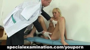 Very special examination for busty blonde babe