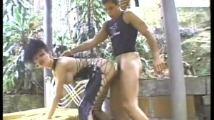 That leathery tranny likes her ass filled - Pandemonium