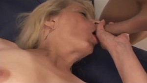 Super Hairy Blonde MILF gets Creampied