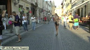 Crazy czech babes naked on public streets