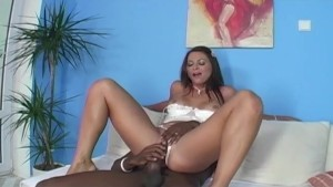 MILF Takes HUGE Black Cock Up Her Tight Ass