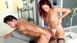 Redhead Fucks Her Boyfriends Ass Then Gets Her Ass Fucked