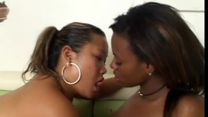 Asian and ebony girls discover the woman body - Black Thunder Digital