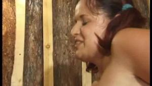 Cross-age fucking in a sauna