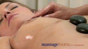 Massage Rooms Hot pebbles sensual foreplay ends in 69er