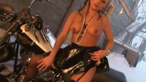 Blonde biker chick is so hot - Julia Reaves