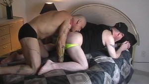 Two big dudes are having fun at the hotel - Pig Daddy Productions