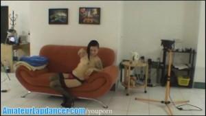 Tattooed rebel chick doing sexy lapdance