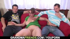 Mature gets her mouth and ass banged
