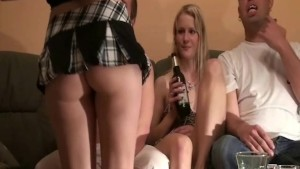 Amateur young home party with sextoys and beaver