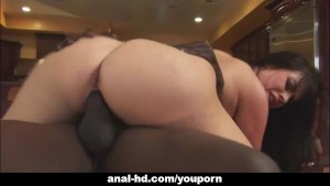 Big tit babe takes on huge black cock