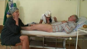 Grandpapa is fucked by hot nurse