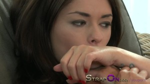 StrapOn Tight European girl fucked by lovely natural latina lesbian in her warm wet pussy