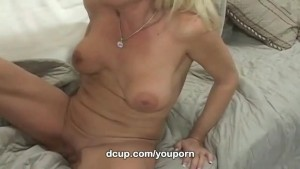Busty milf Bridtette Lee gobbles youthful cock only at DCup
