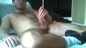 Hot muscle boyfriend jerking off his cock for the webcam