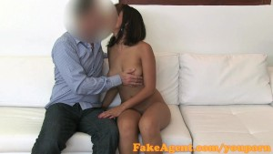 FakeAgent Stunning young amateur fucks in casting