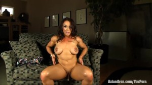 Aziani Iron Brandi Mae female bodybuilder nude