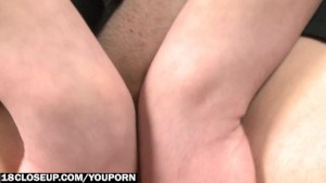 Upskirt Amateur Blonde Shows Tight Pussy