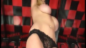 Blonde Big Tit Sapphire Pole Dances For You