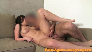 FakeAgent Brunette amateur takes Creampie in casting interview