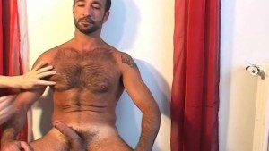 My arab sport trainer made a porn movie: gets wanked his gard cock by a guy !