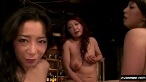 Hot Japanese Lesbian Threesome