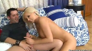 Perfect Tits Blonde Gets Into Cowgirl Style