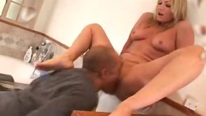 Cock Sucking And Pussy Licked Babe Gives A Footjob!
