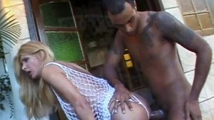BBC Busts A Nut On This Tgirls Face - Shock Wave
