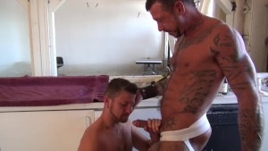 Muscular gays butt fucking - Factory Video