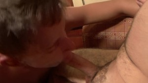 Sucking a dick and cumming on himself - Factory Video