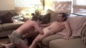 Couch Quickie For Natural Amateur