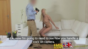 FakeAgentUK Blonde sexy Czech girl squirts all over agents cock