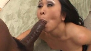 Asian Babe Gets Pounded By Black Cock - Candy Shop
