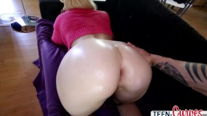 Super Hot Victoria gets her amazing ass oiled up and her pussy gets fucked