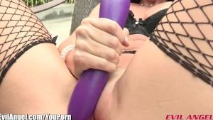AnalAcrobats Gaping Anal Foursome with Double Ended Dildo