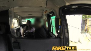FakeTaxi Out of work brunette earns extra cash