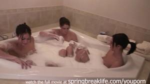 new years bubble bath