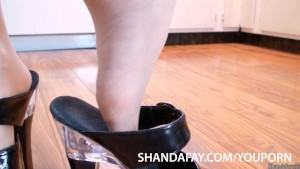 Canadian MILF Shanda Fay gives a FootJob and gets ANAL Creampied!