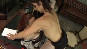 Hot TS Dominates Bella Rossi's Pussy