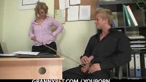Office lady enjoys riding his rod