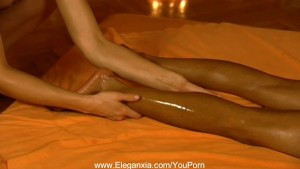 Erotic Lesbians Massage After Work